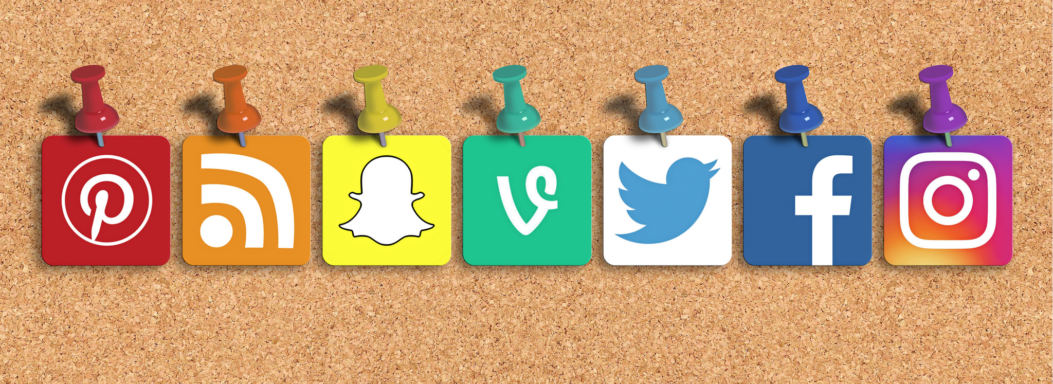 Social Media Mixed Icons - Banner