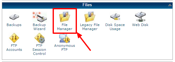 Go to File Manager